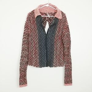 Free People Wool Blend Split Back Cardigan #3711